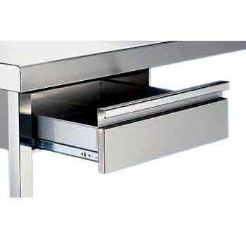 ServiBar - Cajón individual de acero inoxidable para mesas de trabajo