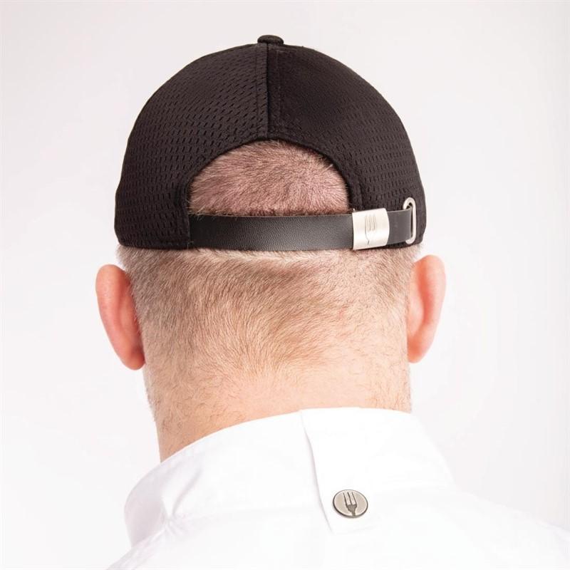 e40f362b8a82 Gorra béisbol Chef Works Cool Vent negra y gris